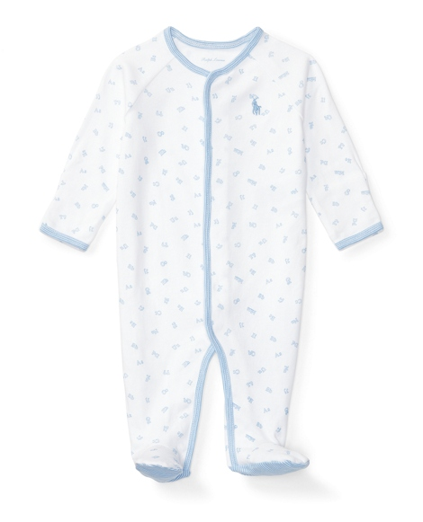 Alphabet-Print Cotton Coverall