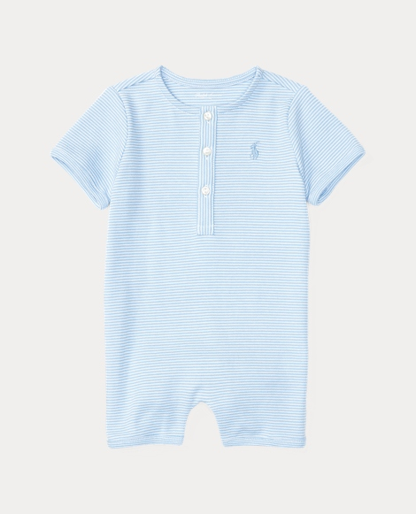 Striped Cotton Shortall