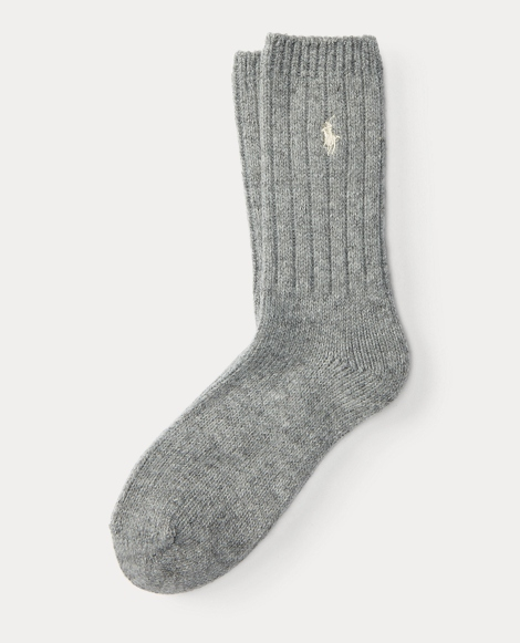 Ribbed Wool Boot Sock