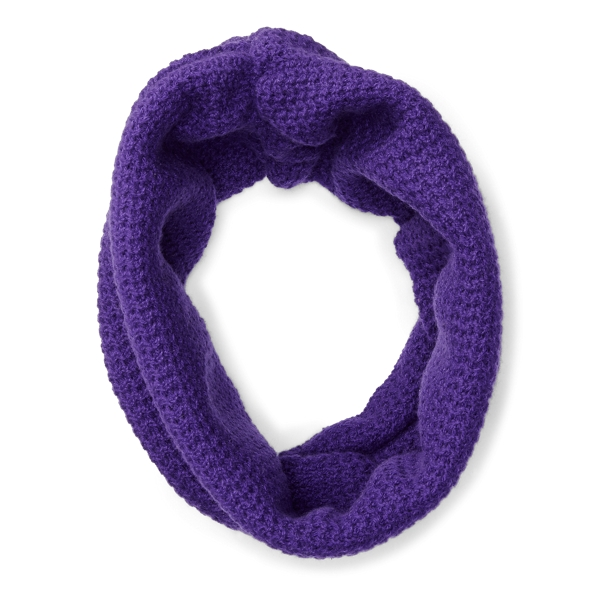 Ralph Lauren Ribbed Cashmere Snood Autumn Purple One Size