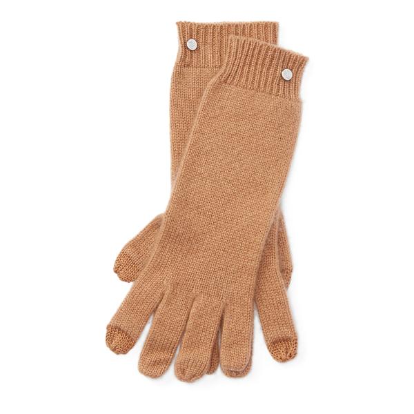 Ralph Lauren Cashmere Touch Screen Gloves Camel One Size