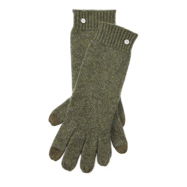 Ralph Lauren Cashmere Touch Screen Gloves Loden Heather One Size
