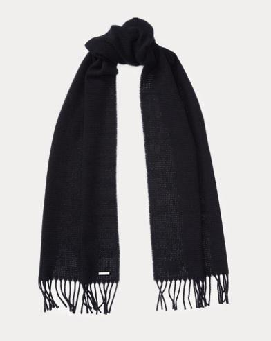 Basket-Weave Cashmere Scarf