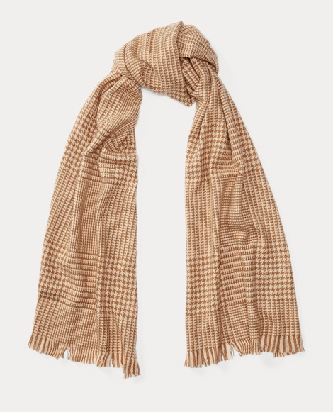 Oversized Glen Plaid Scarf