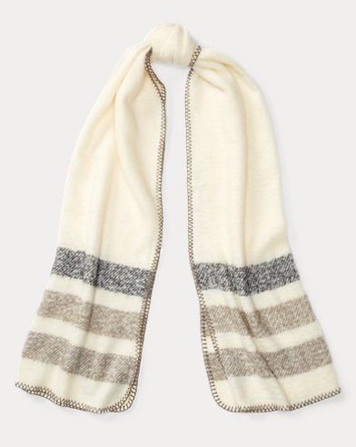 Oversize Striped Scarf
