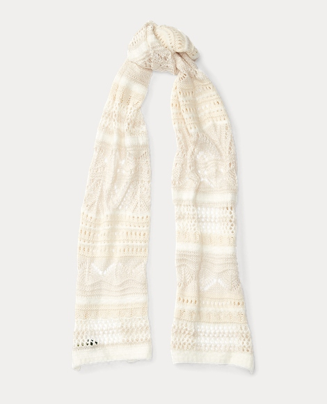 Pointelle-Knit Scarf