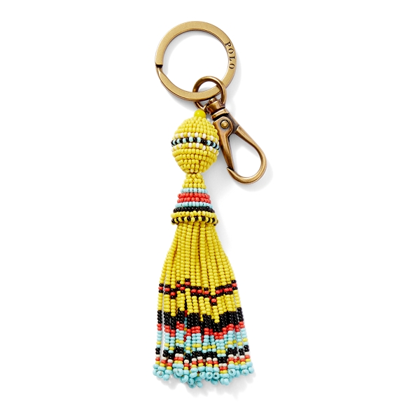 Ralph Lauren Beaded Tassel Key Fob Yellow Multi One Size