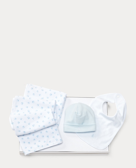 Hat, Bib & Blanket Gift Set