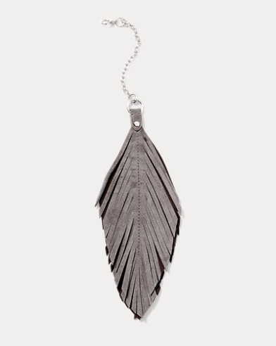 Suede-Feather Handbag Chain