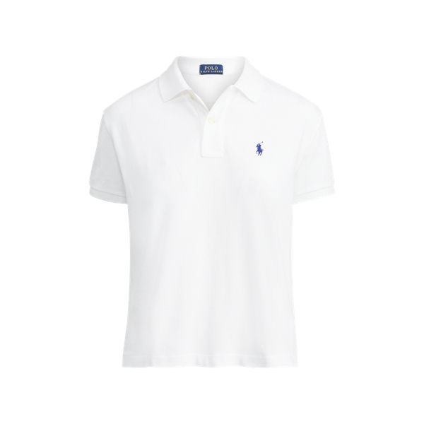 Ralph Lauren Cropped Cotton Mesh Polo White M