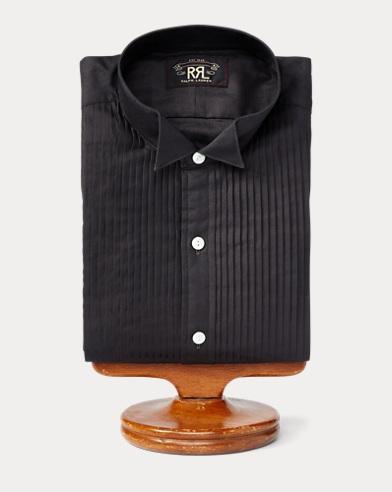 Cotton Sateen Tuxedo Shirt
