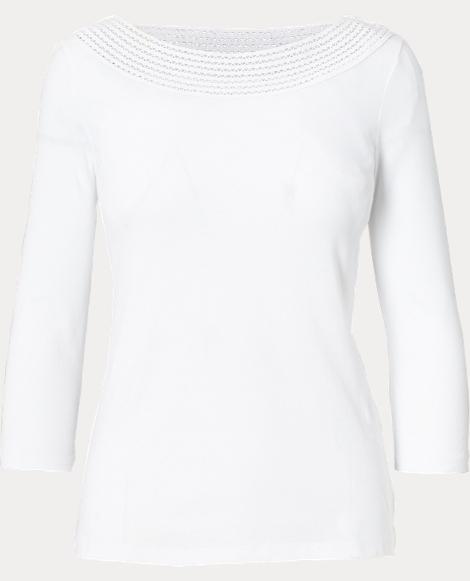 Crochet-Trim Cotton Top