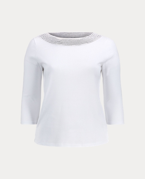 Crochet-Trim Cotton Top