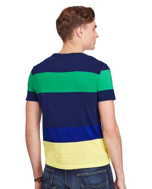 produt-image-3.0. produt-image-4.0. Men Clothing T-Shirts Cotton Jersey  Crewneck T-Shirt. Polo Ralph Lauren