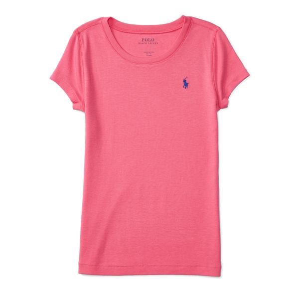 Ralph Lauren Cotton-Blend Short-Sleeve Tee Desert Pink S
