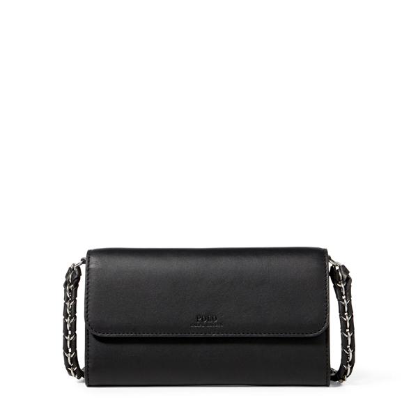 Ralph Lauren Leather Chain Strap Wallet Black One Size