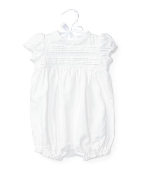 Pleated Linen-Cotton Shortall