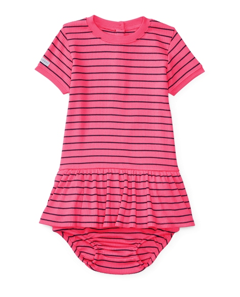 Striped Knit Dress & Bloomer