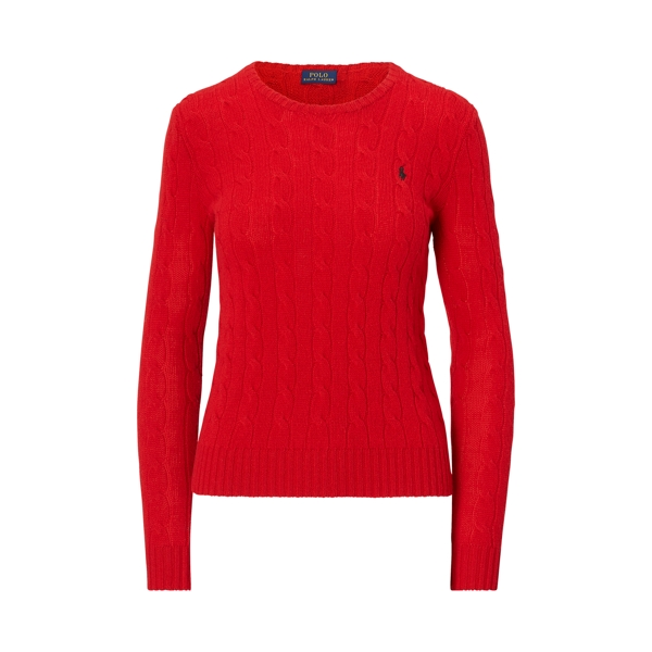 Ralph Lauren Wool-Cashmere Crewneck Sweater Martin Red Xl