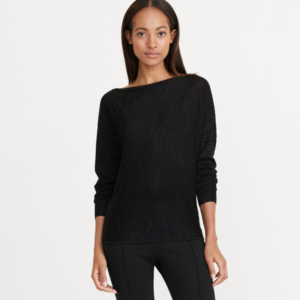 Ralph Lauren Boatneck Sweater Black/Black M