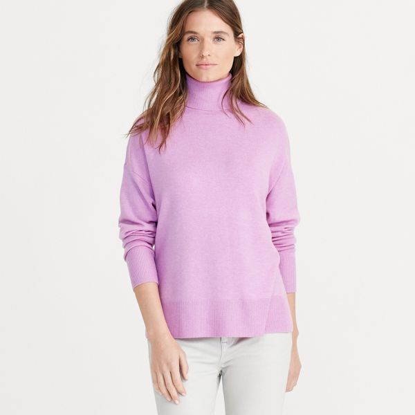 Ralph Lauren Wool-Cashmere Turtleneck Pure Lilac M
