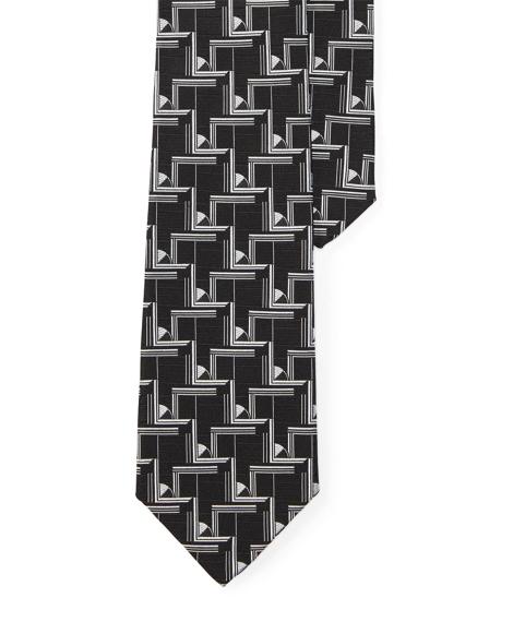 Art Deco Silk Jacquard Tie