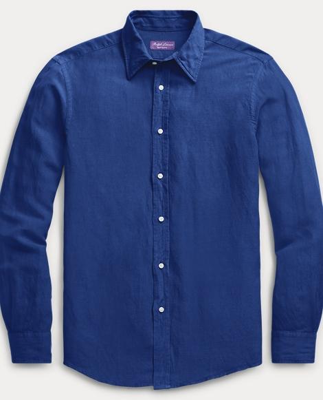 Slub Linen-Silk Dress Shirt