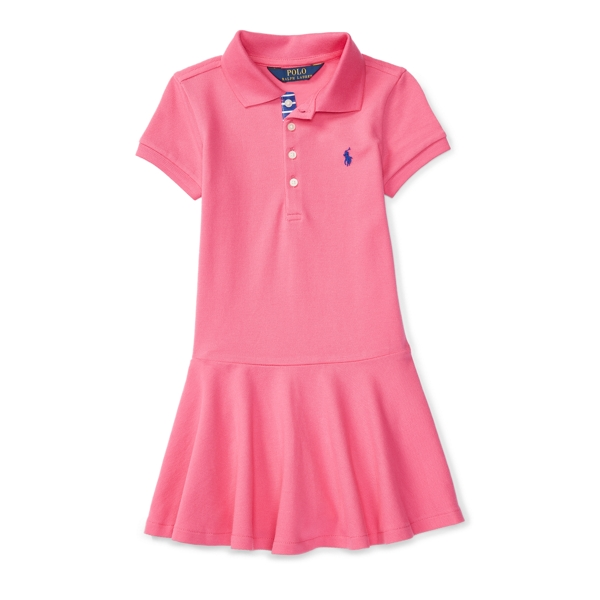 Ralph Lauren Mesh Short-Sleeve Polo Dress Desert Pink 3T