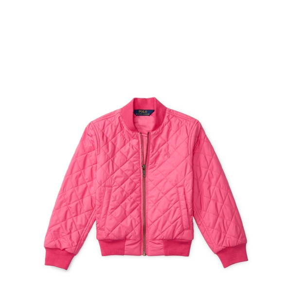 Ralph Lauren Quilted Baseball Jacket Madison Pink 2T