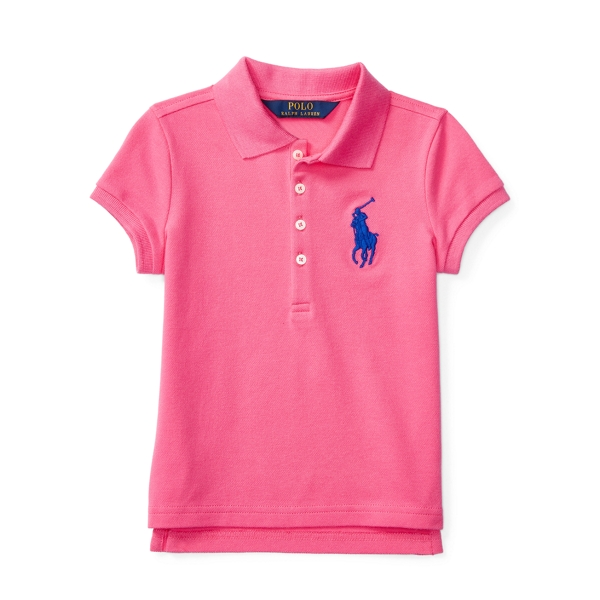 Ralph Lauren Big Pony Stretch Mesh Polo Desert Pink 2T
