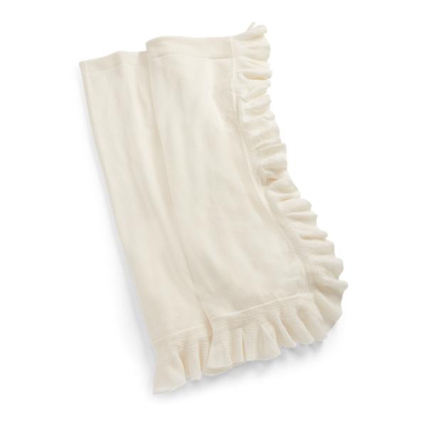 Ralph Lauren Whitney Cashmere Throw Blanket Cream 60