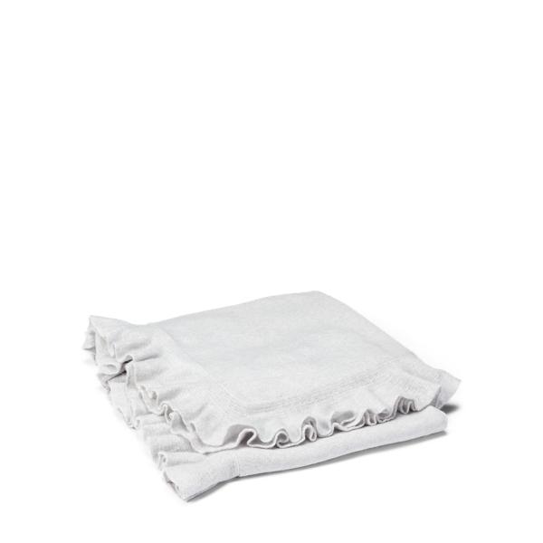 Ralph Lauren Whitney Cashmere Throw Blanket Light Grey 60