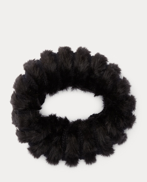 Faux Fur-Trim Snood