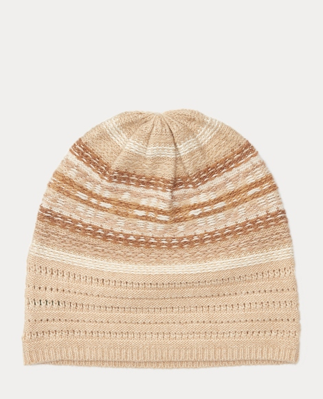 Striped Fair Isle Slouchy Hat
