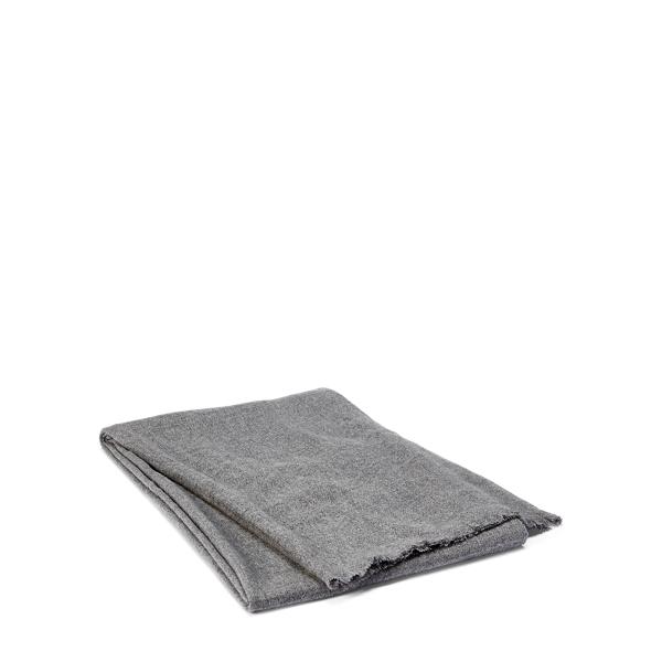Ralph Lauren Everett Cashmere Throw Blanket Charcoal 50