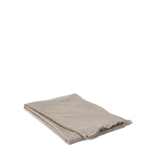 Ralph Lauren Everett Cashmere Throw Blanket Natural 50