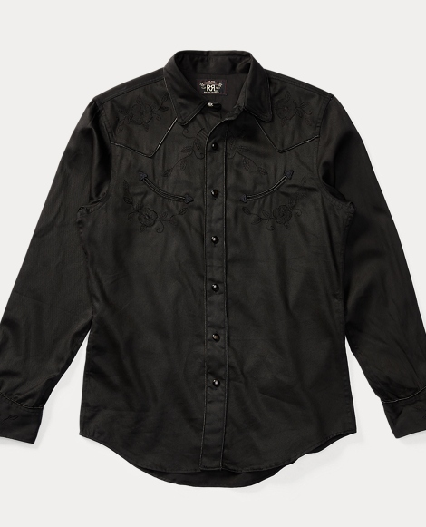 Appliquéd Cotton Western Shirt