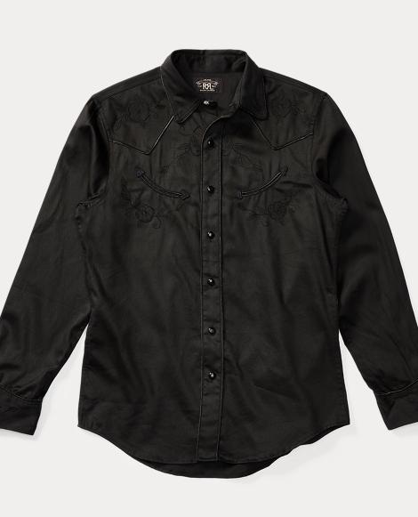 Appliquéd Cotton Western Shirt