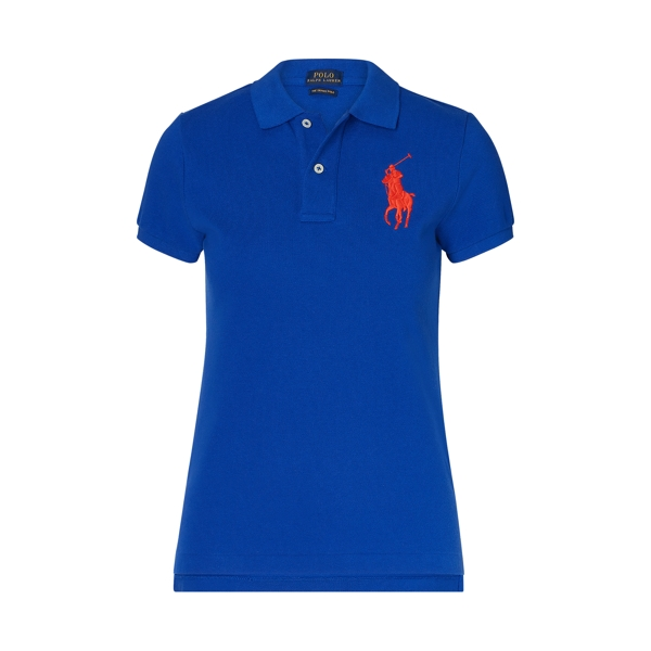 Ralph Lauren Skinny Fit Big Pony Polo Shirt Deep Royal Xs