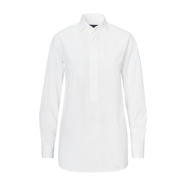 Ralph Lauren Cotton Broadcloth Tunic White 2