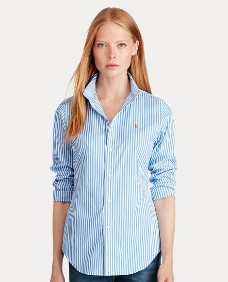 Stretch Slim Fit Striped Shirt