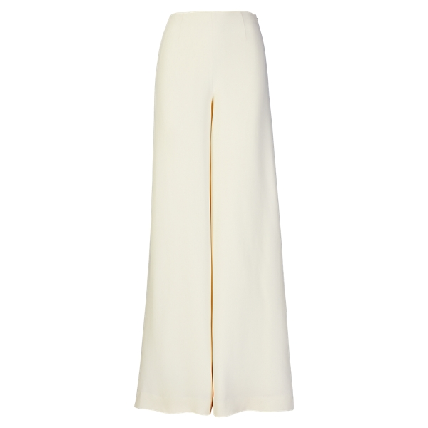 Ralph Lauren Charmain Silk Wide-Leg Pant Cream 2