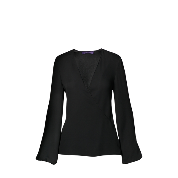 Ralph Lauren Cecillia Silk Blouse Black 4