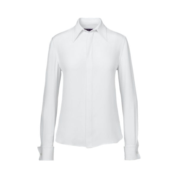 Ralph Lauren Francoise Silk Shirt Off White 6