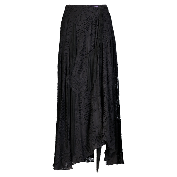 Ralph Lauren Blake Fil Coupé Skirt Black 2
