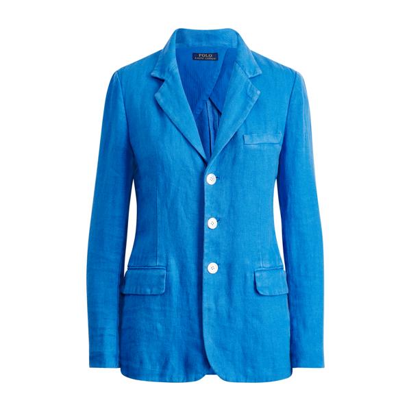 Ralph Lauren Linen 3-Button Blazer Corsican Blue 6