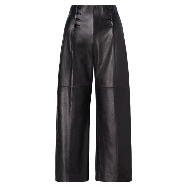 Ralph Lauren Leather Sailor Pant Polo Black 2
