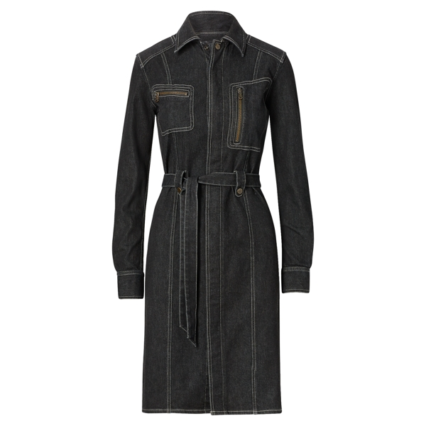 Ralph Lauren Denim Utility Dress Black 2