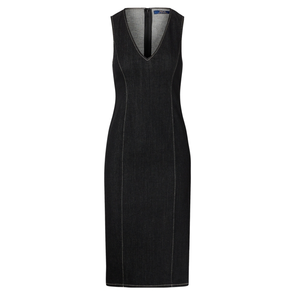 Ralph Lauren Denim Sheath Dress Black 2