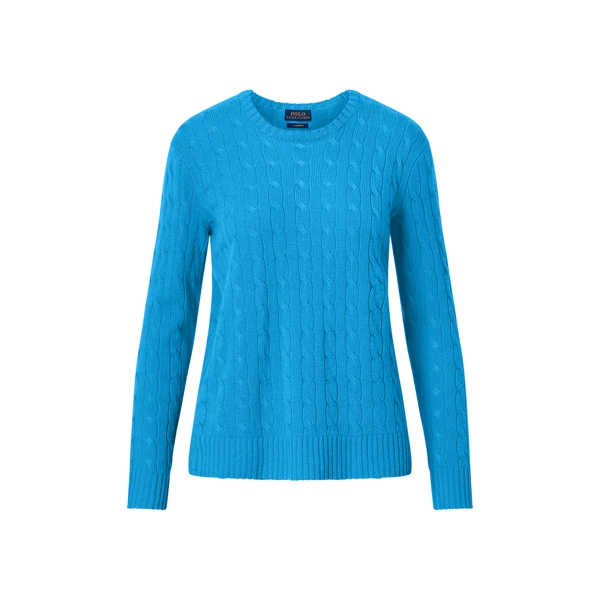 Ralph Lauren Cable-Knit Cashmere Sweater Brookfield Blue S
